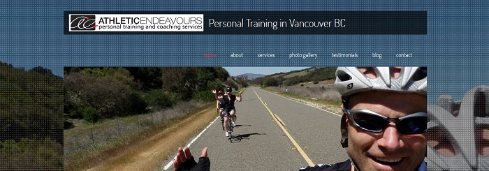 Athletic Endeavours site by Vancouver web designer