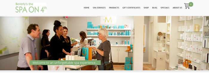Lara Spence Web Design launches new site for Vancouver Spa on 4th